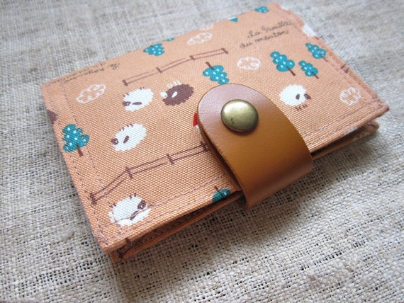 Card Organizer -  Sheep in the farm (20 pockets card holder included)