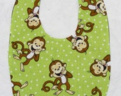 Monkey Business- Small Baby Bib