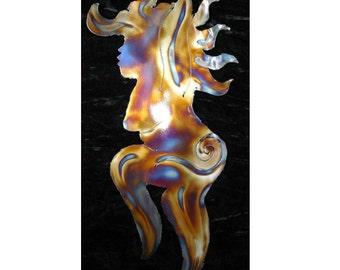 WILD WOMAN Dancer GODDESS Metal Wall Accent Art Decor