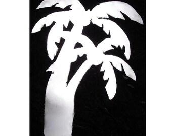 Palm Tree Tropical Ocean Beach House Metal Lawn Yard Garden Art Stake