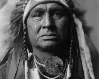 Native American Indian White Man Runs Him 8 X 10 IMAGE