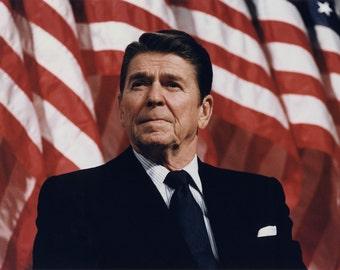 Striking image of Ronald Reagan President