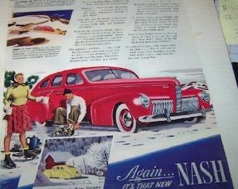 1940 Weather eye magic again its that new NASH AD