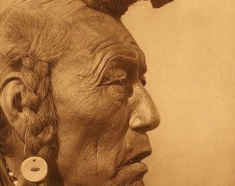 Bear Bull Blackfoot Indian Image 8 1/2 x 11 Image