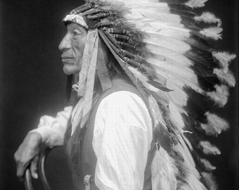 American Indian Iron Tail Image 8 1/2 x 11 Image