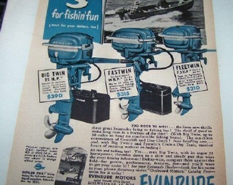 Evinrude 1951 big twin fastwin  fleetwin advertisement