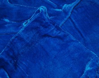 Velvet, hand-dyed silk-backed rayon velvet, Aqua