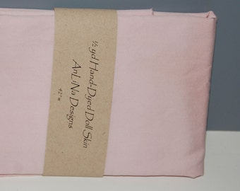Doll Skin, hand-dyed pale pink, pima cotton 1/2 yard non stretch