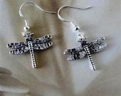 Sterling Silver Dragonfly Earrings Jewelry