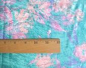 Vintage 80's Pastel Fabric