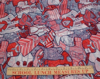 Vintage 70's Novelty fabric