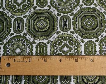 Vintage 1950's Hunter Green Cotton Fabric