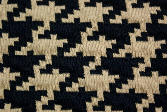Vintage Jersey/Polyester Houndstooth Fabric 1.5 YDS