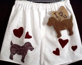 Hearts and Pups Flannel Boxers/Buy 1 Get 1