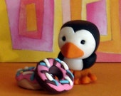 Pengulosh the penguin and some Doughnuts with Sprinkles-Free shipping in the US