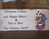 Christmas Cookies and Happy Hearts Sign