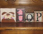 spring and Easter Decor - Bunny Hop Easter and Spring Sign