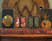 Thanksgiving Countdown Blocks - Turkey and Pumpking with Crow Thanksgiving Decor