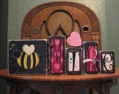 Valentines Day Decor - Valentine Blocks - Be Mine Valentine Sign