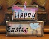 Happy Easter Word Blocks