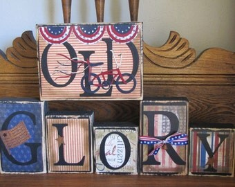 4th of July Decor, 4th of July Sign, Independence Day Sign, Indepencence Day Decor, Military Decor, Military Sign, Old Glory