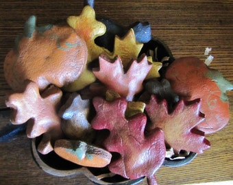 Salt Dough Ornament Bowl Fillers - Autumn Mix