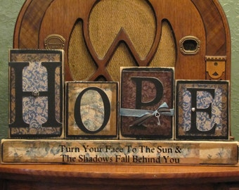 Encouragement Gift, Cancer Gift, Hope Inspirational Sign