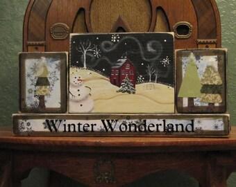 Winter Decor, Christmas Sign, Winter Sign,  Christmas Decor, Winter Decor Blocks