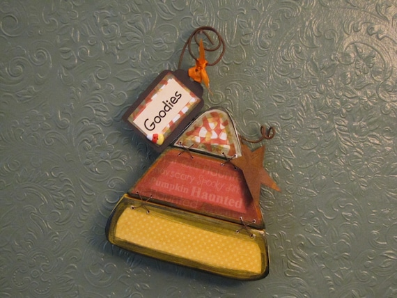 Goodies - Candy Corn Halloween and Fall Decor Sign