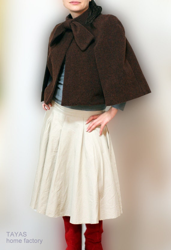 CLEARANCE Cape jacket with a bow