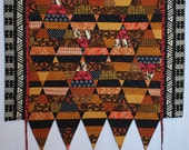 "African ethnic inspired art quilt wall hanging 30"" X 37"""