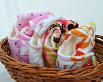 Girl Baby Doll Diaper Set of Five Cloth Diapers