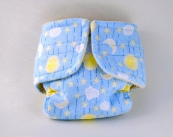Baby Doll Diaper - Starry Night - Size Large