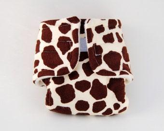 Baby Doll Diaper - Giraffe Print - Size Large