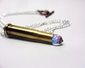 Large Bullet Crystal Necklace