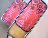 Mineral Tinted Lip Butter in Banana Creme, LipSync Lip Balm .25oz Slide Tin
