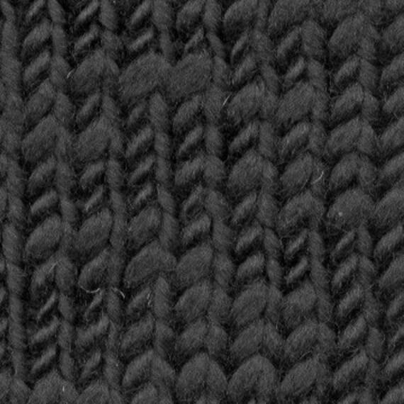 Cone Black 100 Percent Merino Wool Yarn Thick And Thin