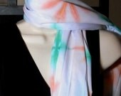 FREE SHIPPING- A Pretty Hand Dyed Scarf/wrap, CLEARANCE
