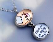 Teacher Thank You Necklace - Thank You Gift for Teacher, Nanny, Babysitter, Mom