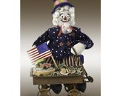 PATTERN for Uncle Sam miniature art doll collectible