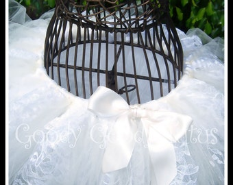 VINTAGE LACE Shabby Chic Inspired Tutu with a Punk Rock Flair