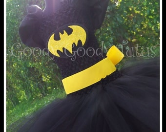 I'M BATGIRL Batman Inspired Tutu Dress - Large 4-6t