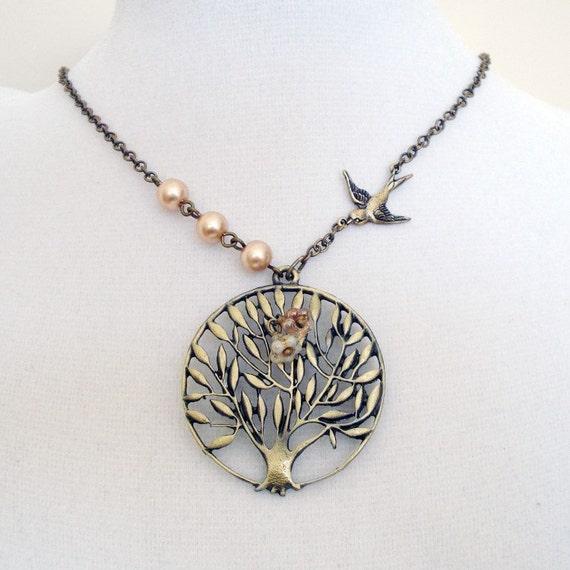 Secret Garden Necklace - Brass and Bronze