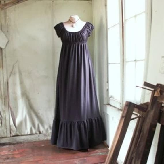 Empire Dress grey Dark Manor Collection-size Large