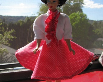 late 1950's Afternoon Dress and Hat for Barbie