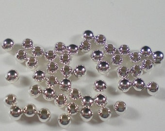 3mm Round Seamless Sterling Silver Beads S-109