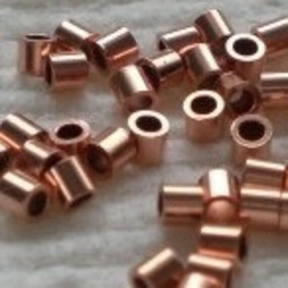 2mm Genuine Copper Crimp Tubes Beads 100 GC-106
