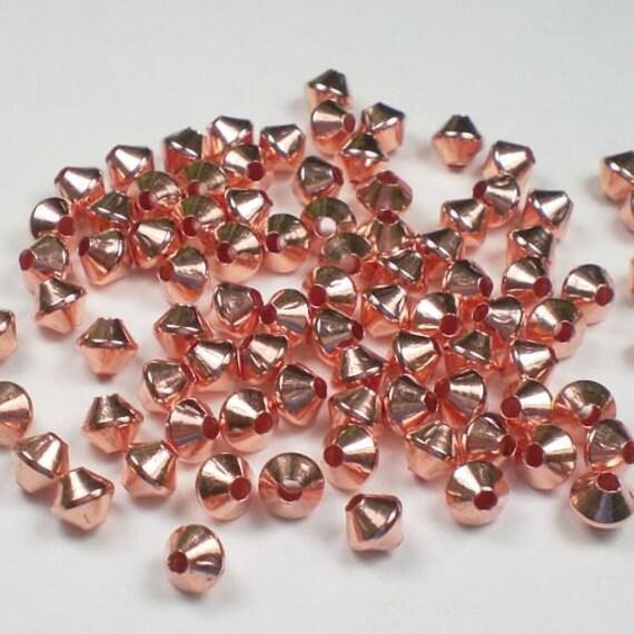 5mm Bicone Beads Genuine Copper 144 pcs. GC-182