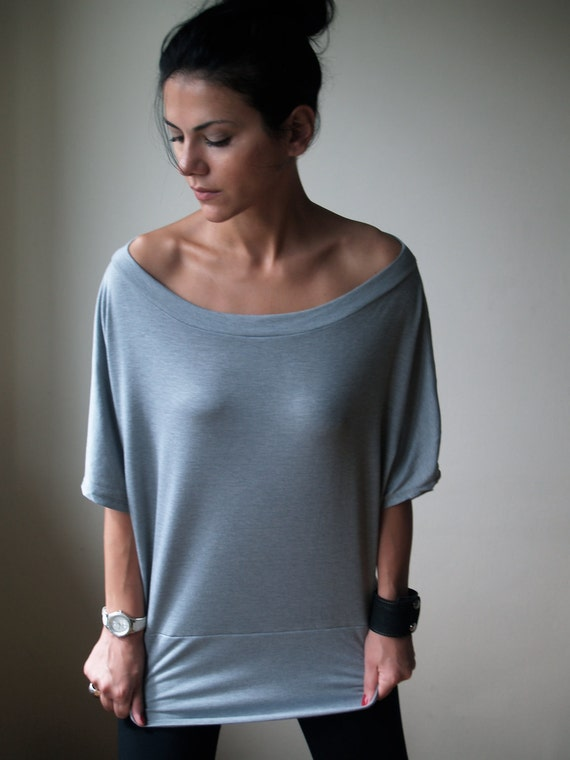 Slouchy Oversized Off Shoulder Top - MB041