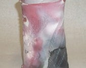 Pit fired vase with textures
